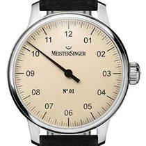 Meistersinger Ocel 40mm Ruční natahování N° 01 nové