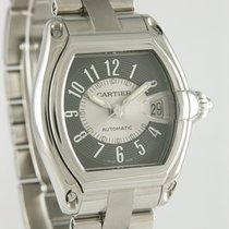 Cartier Roadster Steel 37mm Grey Arabic numerals
