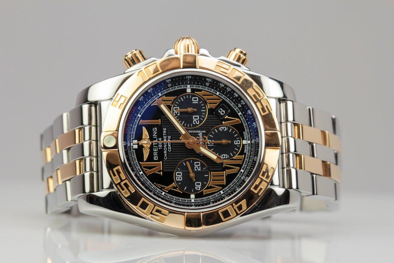 breitling windrider chronomat b01 18k rose gold