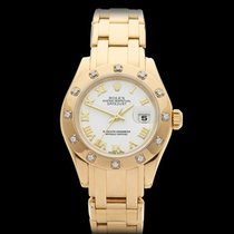 Rolex Pearlmaster 18k Yellow Gold Ladies 80318 - W3689