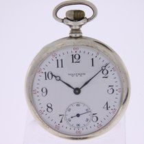 Waltham Silver Pocket Watch of 1919  Perfect Enamel Dial