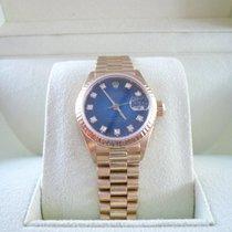 Rolex Lady-Datejust Gelbgold 26mm Blau Keine Ziffern Deutschland