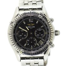 Breitling Chrono Cockpit pre-owned 37mm Black Chronograph Date Steel