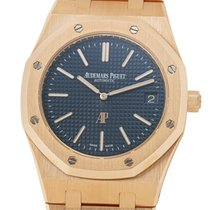 Audemars Piguet Royal Oak Jumbo Rose gold 39mm Blue United States of America, New York, New York