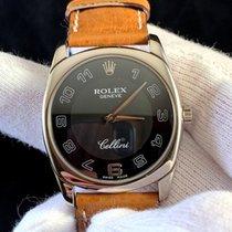 Rolex Cellini Danaos Witgoud Zwart Arabisch Nederland, breda