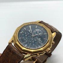 Baume & Mercier Riviera Chronograph SOLID GOLD Automatic Blue...