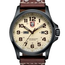 Luminox Çelik 45mm Quartz XL.1927 LUMINOX LAND Atacama Field Giorno Crema Marrone 45mm yeni