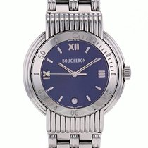 Boucheron Reflet Steel 36mm Blue Roman numerals