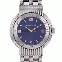 Boucheron Reflet Steel 36mm Blue Roman numerals