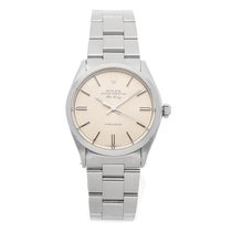 Rolex Air King Precision pre-owned 34mm Silver Fold clasp