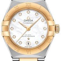 Omega Constellation Gold/Stahl 29mm Perlmutt