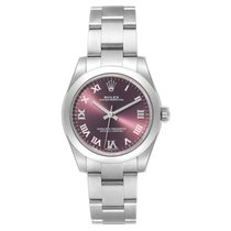 Rolex Steel Automatic Red Roman numerals 31mm new Oyster Perpetual 31