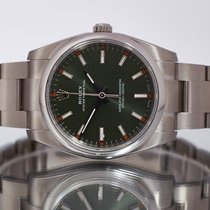 Rolex Oyster Perpetual 34 Steel 34mm Green United Kingdom, Essex