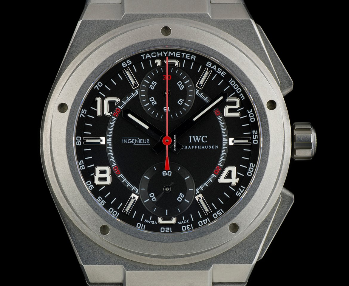 iwc ingenieur chrono amg for mercedes iw372504 saati 33. Black Bedroom Furniture Sets. Home Design Ideas