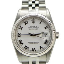 Rolex DateJust Stainless Steel 16234 White Roman Dial