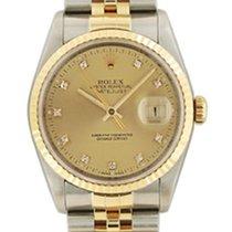 Rolex Datejust acc-oro Diamanti SCAT/GAR art. Rz1251