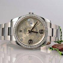 Rolex DateJust 116200 Random Floral Diamanten Lünette - 2014