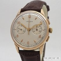 Lemania Rose gold 34mm Manual winding pre-owned