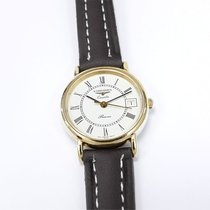 11ac3355a6e Longines Presence White Dial 18k Gold Plated 152.6800