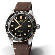 Oris DIVING DIVERS SIXTY-FIVE Black Dial-Dark Brown Skin 40mm-BW