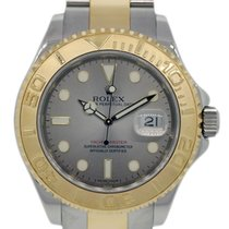 Rolex Yacht-Master pre-owned 40mm Silver Date Gold/Steel