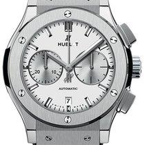 Hublot Classic Fusion Chronograph Titan 45mm Silber Keine Ziffern