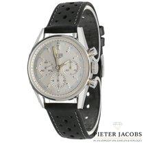 TAG Heuer Carrera tweedehands 35mm Zilver Chronograaf Leer