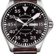 Hamilton H64715535 Acier Khaki Pilot nouveau