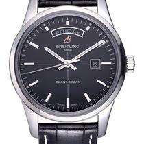 Breitling Transocean Day & Date Acero 43mm Negro