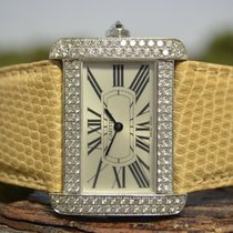 Cartier Tank Divan White gold 38mm Champagne