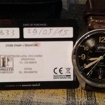 Hamilton Khaki Field Day Date occasion 42mm Brun Cuir