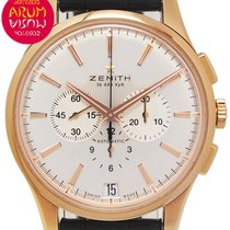 Zenith Captain Chronograph Rose gold 42mm Silver No numerals