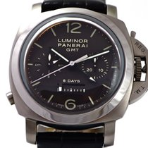 Panerai Luminor 1950 8 Days Chrono Monopulsante GMT new Manual winding Chronograph Watch only PAM00311