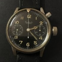Hanhart Chronograph 41mm Manual winding 1940 pre-owned Black