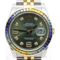 Rolex Datejust 116233 Two Tone W/ Custom Green Diamond Dial...