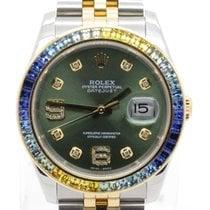Rolex Datejust 116233 Two Tone W/ Custom Green Diamond Dial...