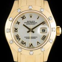 Rolex 80318 Gelbgold 2001 Lady-Datejust Pearlmaster 29mm gebraucht