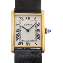 カルティエ Must Tank Hand Winding Watch Gold Antique 0220