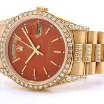 Rolex 18K Day-Date Custom Orange w/ 5 cts. Added Diamonds 18238