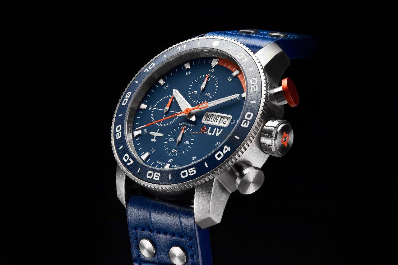 cec02cc10 Liv Watches GX Swiss Titanium Ceramic Auto Pilot's Chrono on Kickstarter