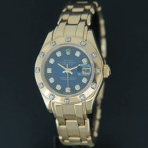 Rolex Pearlmaster Yellow Gold Blue Diamond Dial 69318