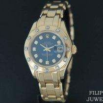 Rolex Lady-Datejust Pearlmaster Geelgoud 29mm Blauw Nederland, Maastricht