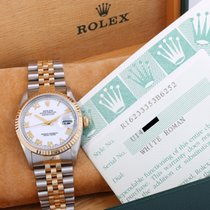Rolex 1999 36mm 18K/SS DATEJUST White Roman -Original Box &...