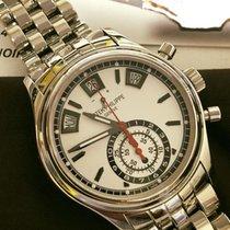 Patek Philippe Annual Calendar Chronograph Steel 40.5mm Silver No numerals