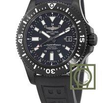 Breitling Superocean 44 Special Blacksteel Black Rubber...