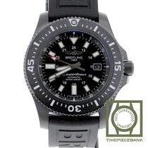Breitling Superocean 44 Staal 44mm Zwart Geen cijfers
