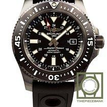 Breitling Superocean 44 Сталь 44mm Чёрный Без цифр