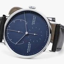 NOMOS Lambda White gold 42mm Blue No numerals United States of America, New Jersey, Princeton