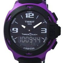 Tissot Aluminium Kvarts Sort 42.2mm ny T-Race Touch