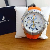 Nautica Steel 47mm Quartz NAI12507G new